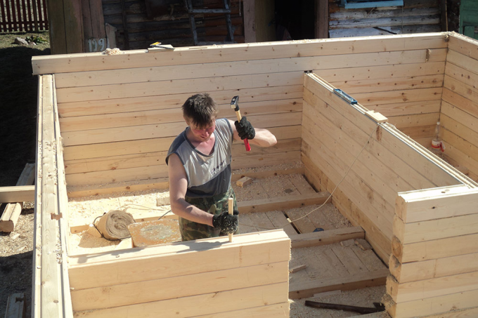Is it possible to build a sauna with their hands without construction experience? Of course yes!