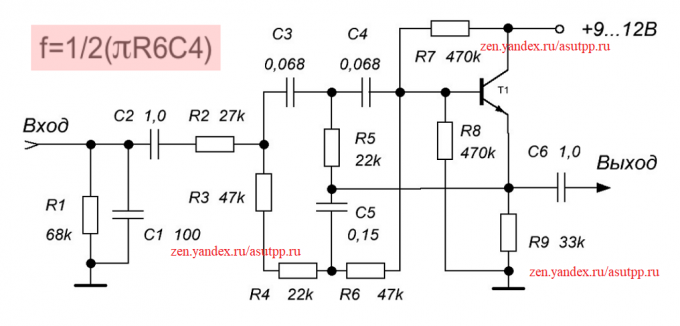 Description rumble filter circuits, or from the background filter 50 Hz