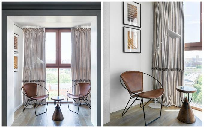 27 m² with one window: how to find a place for everything you need