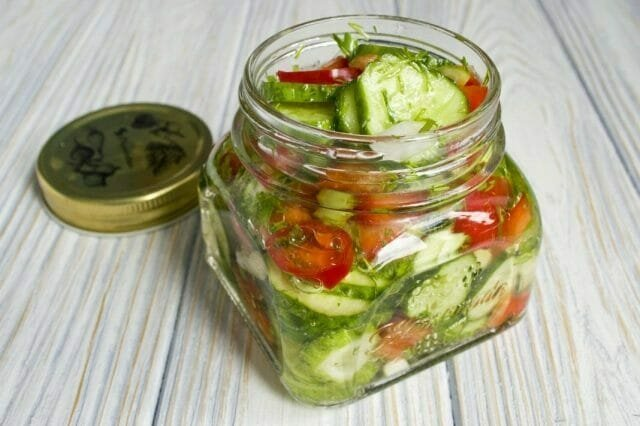 My salad recipe cucumber with pickled onions and butter. Just to genius!