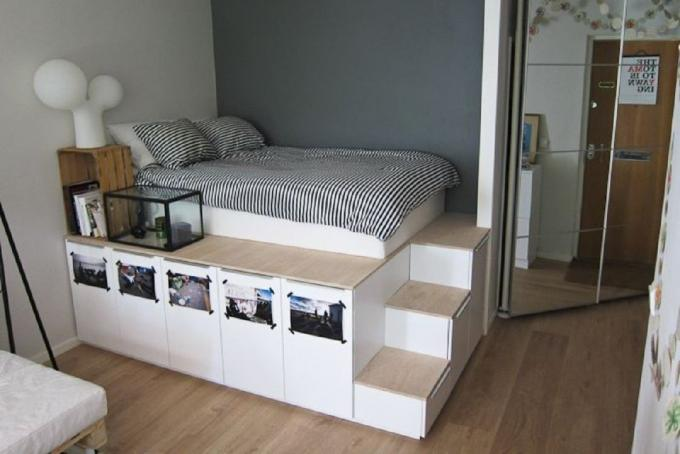 7 dizaynhakov that will expand a small bedroom