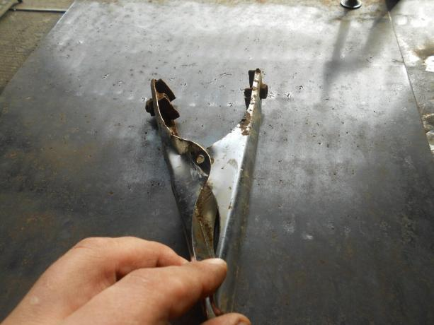 As self-taught weld metal is very thin, less than 1 mm and not burn