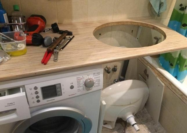 Install the washing machine in a small apartment: 3 Board