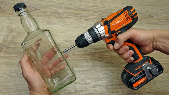 How to drill glass bottle, tile or glass