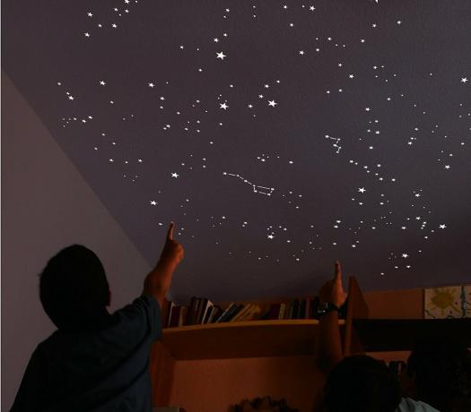 Make a starry sky on the ceiling. Fantasy next to you.